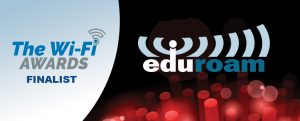 "eduroam celebrates reaching over 100 countries by becoming a ""Product of the Year"" finalist in the WiFi Awards"