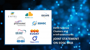 ESFRI Science Clusters and European e-infrastructures joint statement EOSC SRIA