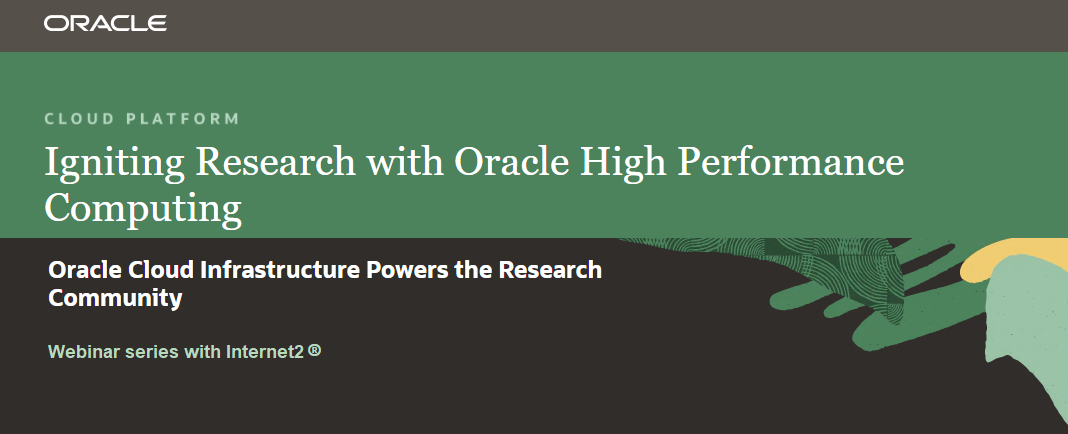 oracle for research webinars