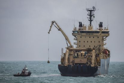 ASN Cable Ship Ile de Brehat and EllaLink Cable Landing in Fortaleza