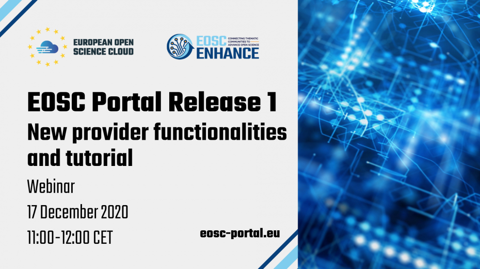 EOSC Portal Release 1 - New provider functionalities and tutorial