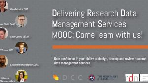 MOOC Delivering Research Data Management Services