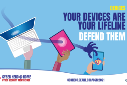 GÉANT Cybersecurity Month 2021 - Cyber Hero At Home - Protect your devices